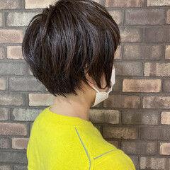 ナチュラル ショート スロウ イルミナカラー ヘアスタイルや髪型の写真・画像