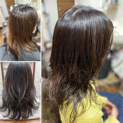 ゆるふわパーマ ロング スパイラルパーマ デジタルパーマ ヘアスタイルや髪型の写真・画像