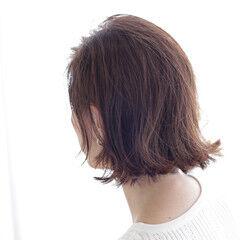 透明感 透明感カラー ボブ 切りっぱなしボブ ヘアスタイルや髪型の写真・画像