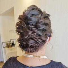 エレガント 結婚式ヘアアレンジ ヘアアレンジ 結婚式 ヘアスタイルや髪型の写真・画像