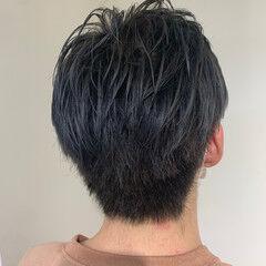 ブリーチ モード ブルーアッシュ ヘアカラー ヘアスタイルや髪型の写真・画像
