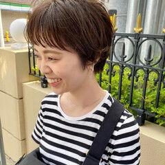 アンニュイ ショートヘア ナチュラル 小顔ショート ヘアスタイルや髪型の写真・画像