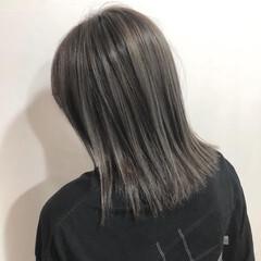 コンサバ コントラストハイライト ミディアム オシャレ ヘアスタイルや髪型の写真・画像