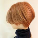 オレンジ ショートヘア ショート アプリコットオレンジ
