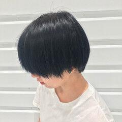 暗髪 モード 原宿系 ブリーチ ヘアスタイルや髪型の写真・画像