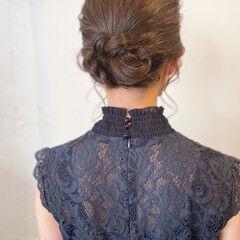 ミディアム アップスタイル フェミニン パーティヘア ヘアスタイルや髪型の写真・画像