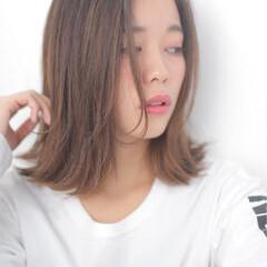 透明感 ロブ ストリート 黒髪 ヘアスタイルや髪型の写真・画像