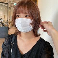 私とマスクとヘアアレンジ ショートボブ ネオウルフ ウルフ女子 ヘアスタイルや髪型の写真・画像