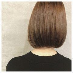 ボブ 色気 レザーカット グラデーションカラー ヘアスタイルや髪型の写真・画像
