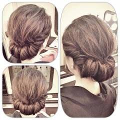 ギブソンタック ルーズ ヘアアレンジ 大人かわいい ヘアスタイルや髪型の写真・画像