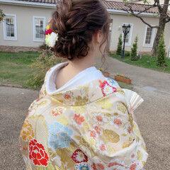 和装 和装ヘア フェミニン ボブ ヘアスタイルや髪型の写真・画像