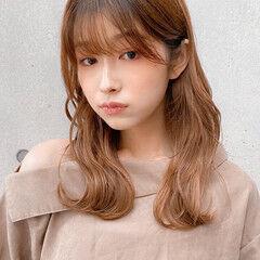 セミロング 大人可愛い レイヤーカット 横顔美人 ヘアスタイルや髪型の写真・画像
