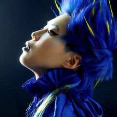 デザインカラー ショート 派手髪 ウルフカット ヘアスタイルや髪型の写真・画像
