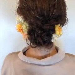 ナチュラル 振袖ヘア シニヨン 着物 ヘアスタイルや髪型の写真・画像