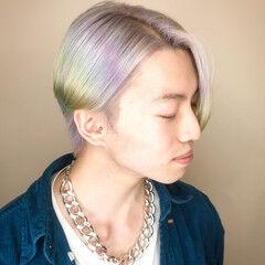 ブリーチ 派手髪 ユニコーンカラー モード ヘアスタイルや髪型の写真・画像