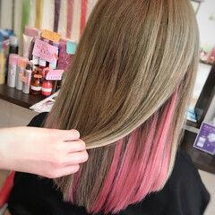 ハイライト エクステ ガーリー 韓国ヘア ヘアスタイルや髪型の写真・画像