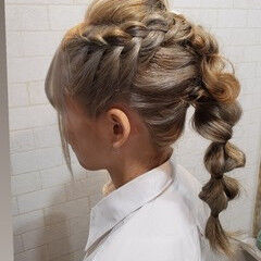 ロング 縮毛矯正名古屋市 縮毛矯正 成人式カラー ヘアスタイルや髪型の写真・画像
