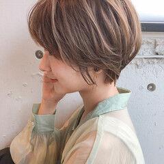 大人ハイライト 3Dハイライト ショート ひし形シルエット ヘアスタイルや髪型の写真・画像