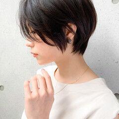ナチュラル ショート ブリーチなし ショートヘア ヘアスタイルや髪型の写真・画像