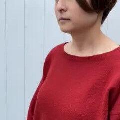 ニュアンスヘア ショートヘア ハンサムショート ナチュラル ヘアスタイルや髪型の写真・画像