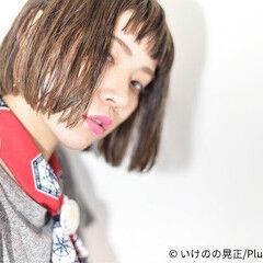 イルミナカラー ストリート ハイライト ベージュゴールド ヘアスタイルや髪型の写真・画像