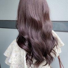 透明感カラー 韓国ヘア 大人ミディアム 大人ヘアスタイル ヘアスタイルや髪型の写真・画像