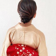 訪問着 エレガント 和装ヘア シニヨン ヘアスタイルや髪型の写真・画像