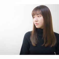 ナチュラル 透明感 イルミナカラー 艶髪 ヘアスタイルや髪型の写真・画像