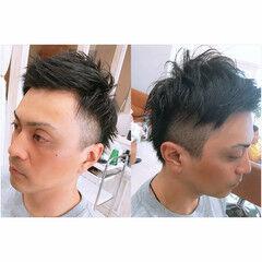 似合わせ メンズ ショート ヘアワックス ヘアスタイルや髪型の写真・画像