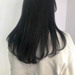 ロング ダークグレー 暗髪女子 大人ロング ヘアスタイルや髪型の写真・画像