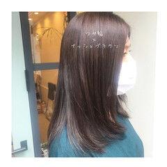 ツヤ髪 大人女子 セミロング 大人ヘアスタイル ヘアスタイルや髪型の写真・画像