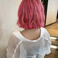 ベリーピンク ラズベリーピンク ピンク ピンクパープル ヘアスタイルや髪型の写真・画像