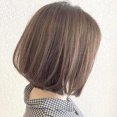 ミニボブ ボブ ヘアアレンジ ミルクティーベージュ ヘアスタイルや髪型の写真・画像