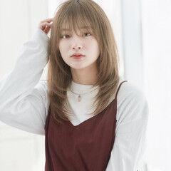 ワンカール ナチュラル 韓国ヘア 小顔 ヘアスタイルや髪型の写真・画像