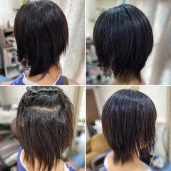 脱縮毛矯正 ミディアム 縮毛矯正 髪質改善トリートメント ヘアスタイルや髪型の写真・画像