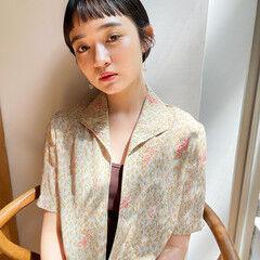 簡単スタイリング マッシュショート ナチュラル ショート ヘアスタイルや髪型の写真・画像