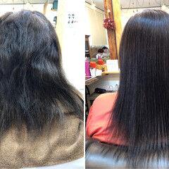 小顔ヘア しっとり 美髪 セミロング ヘアスタイルや髪型の写真・画像