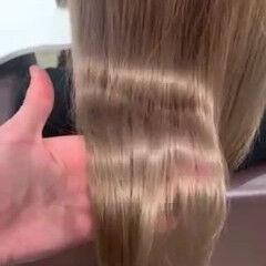 ロング 外国人風 ハイトーン 外国人風カラー ヘアスタイルや髪型の写真・画像