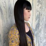 髪質改善 髪質改善カラー ワイドバング ロング