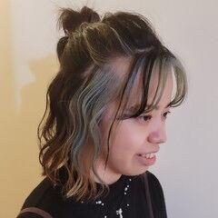 簡単ヘアアレンジ ふわふわヘアアレンジ ヘアアレンジ ボブ ヘアスタイルや髪型の写真・画像