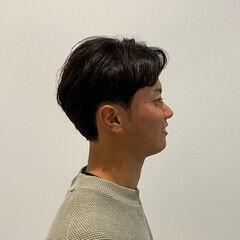 ショート メンズ ツーブロック ノースタイリング ヘアスタイルや髪型の写真・画像