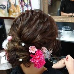ふわふわヘアアレンジ ヘアアレンジ ナチュラル 成人式ヘア ヘアスタイルや髪型の写真・画像