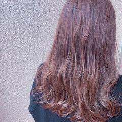 デート 透明感カラー 大人可愛い ミディアム ヘアスタイルや髪型の写真・画像