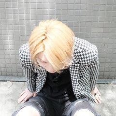 ハイトーン ブロンド ミディアム ハイトーンカラー ヘアスタイルや髪型の写真・画像
