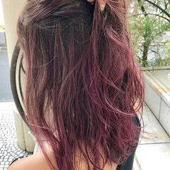 女子会 ピンク デート ミディアム ヘアスタイルや髪型の写真・画像