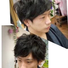 パーマ ボーイッシュ ストリート モテ髪 ヘアスタイルや髪型の写真・画像