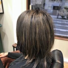 コントラストハイライト ショート ストリート ウルフカット ヘアスタイルや髪型の写真・画像