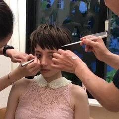 ショート モード ウルフカット ヘアスタイルや髪型の写真・画像