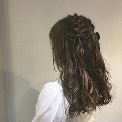 ライブ ロング ヘアアレンジ ハーフアップ ヘアスタイルや髪型の写真・画像