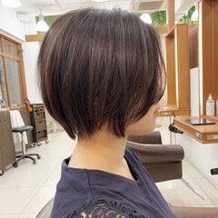 ショート ショートヘア 前髪なし ハンサムショート ヘアスタイルや髪型の写真・画像